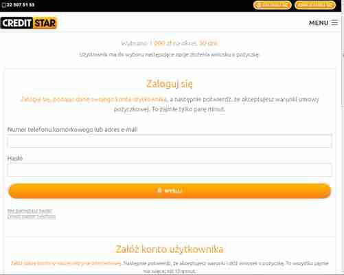 Creditstar logowanie 4