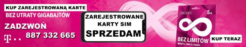 Zarejestrowane karty sim